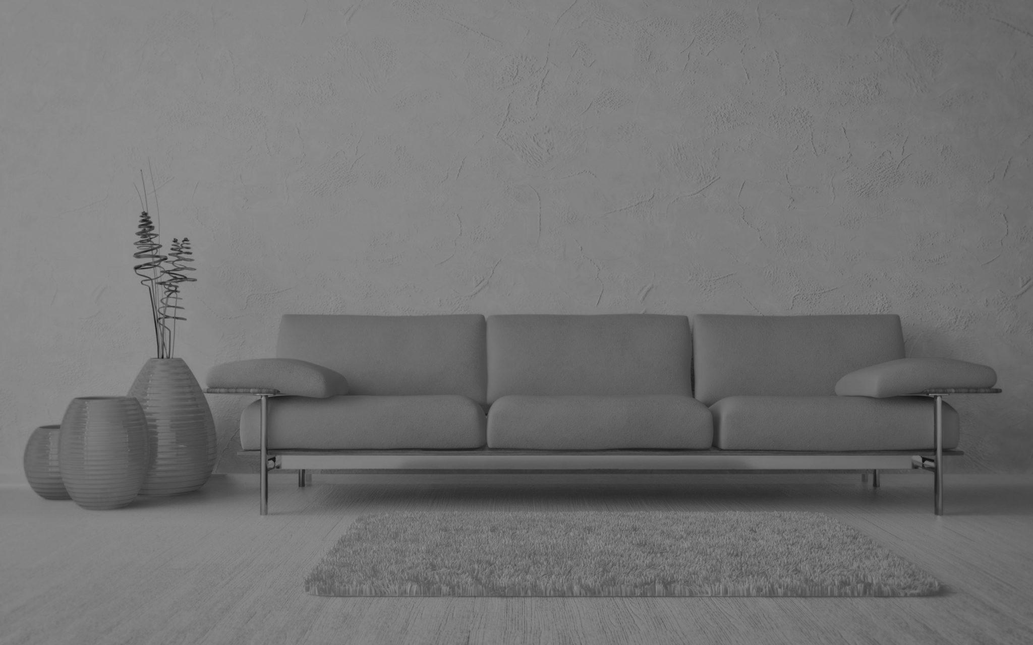 zwart-wit foto sofa